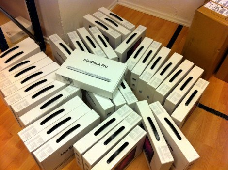 MacBook boxes