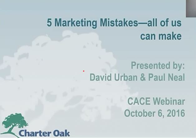 Five Marketing Mistakes to Avoid