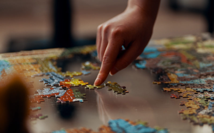 completing a jigsaw puzzle