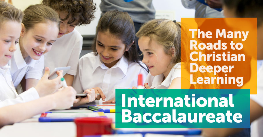 Students collaborate and discuss their schoolwork using the International Baccalaureate